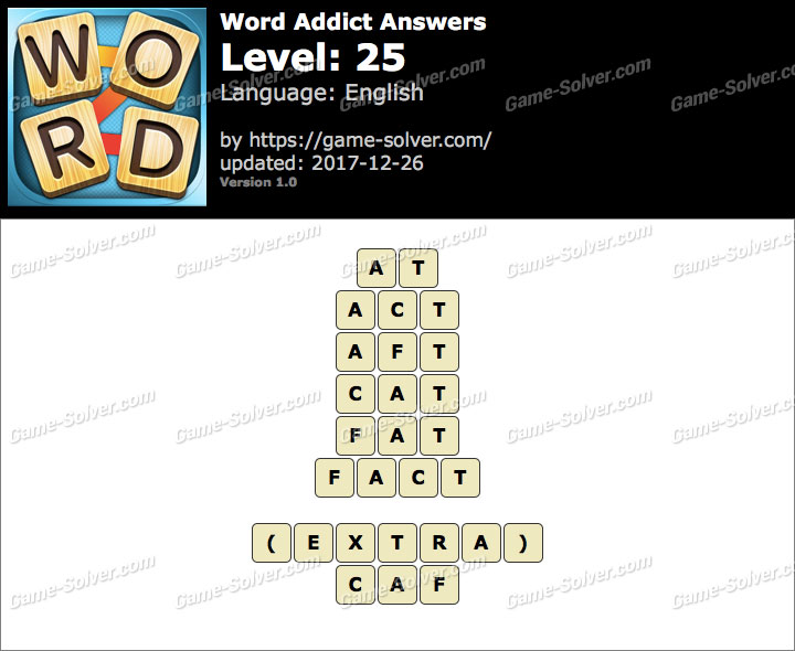 Word Addict Level 25 Answers