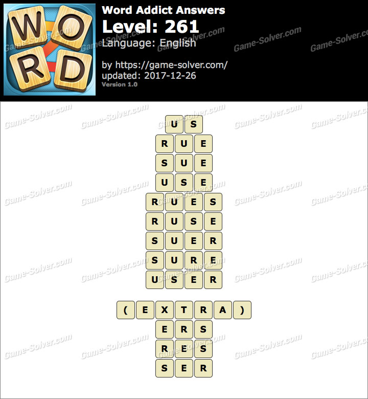 Word Addict Level 261 Answers