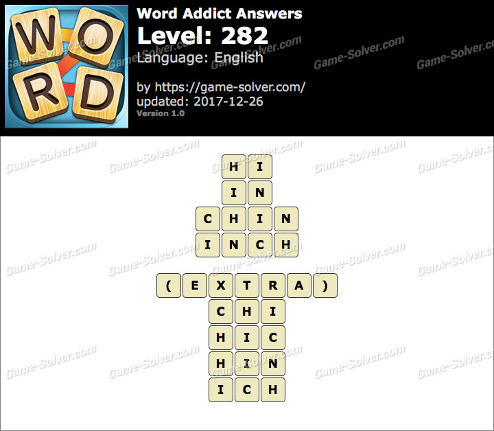 Word Addict Level 282 Answers
