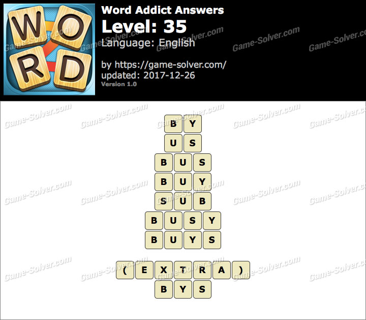 Word Addict Level 35 Answers