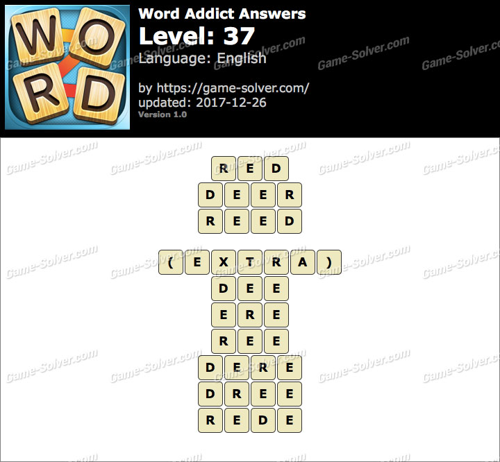 Word Addict Level 37 Answers