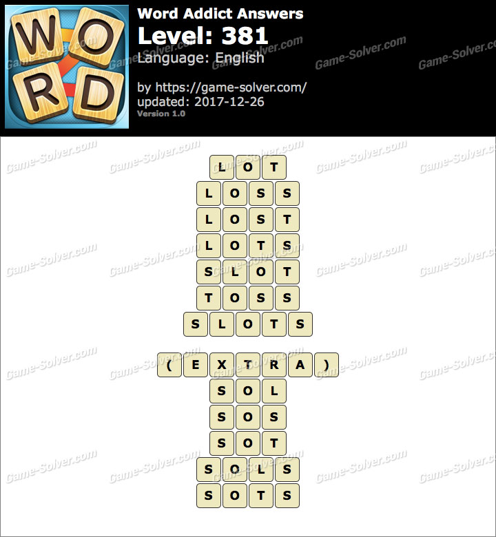 Word Addict Level 381 Answers