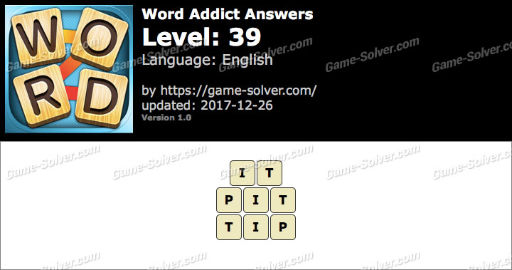 Word Addict Level 39 Answers