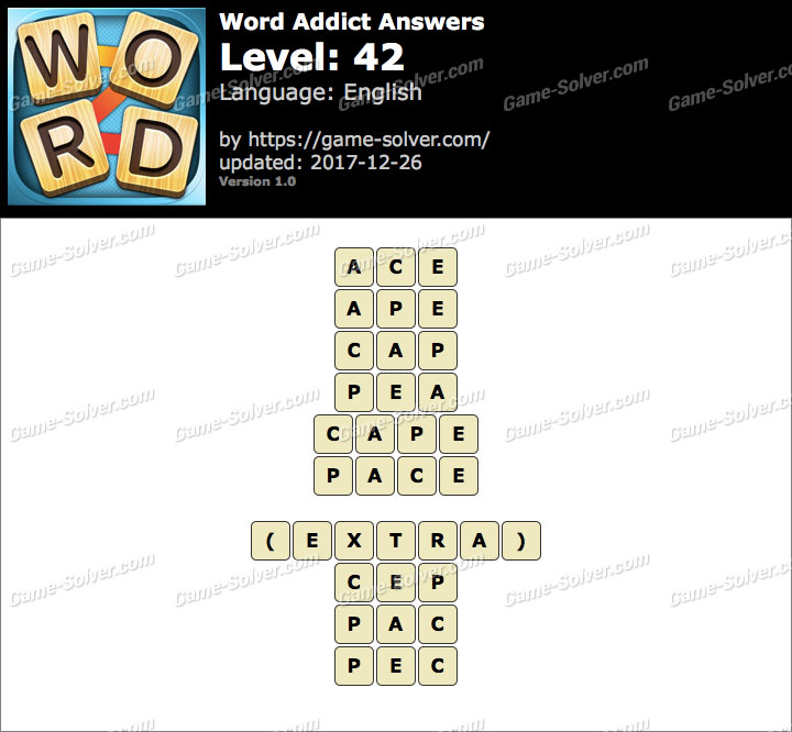 Word Addict Level 42 Answers