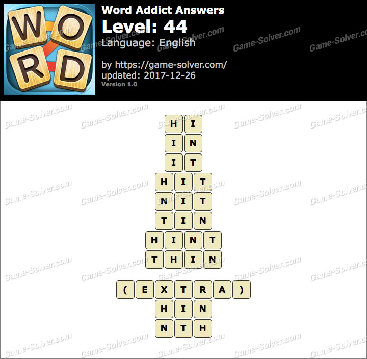 Word Addict Level 44 Answers