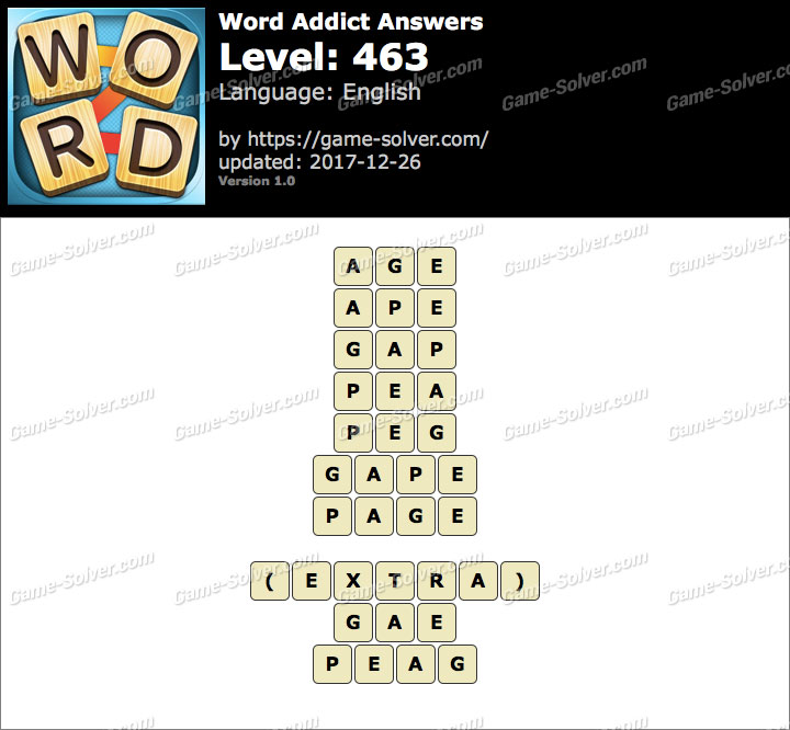 Word Addict Level 463 Answers