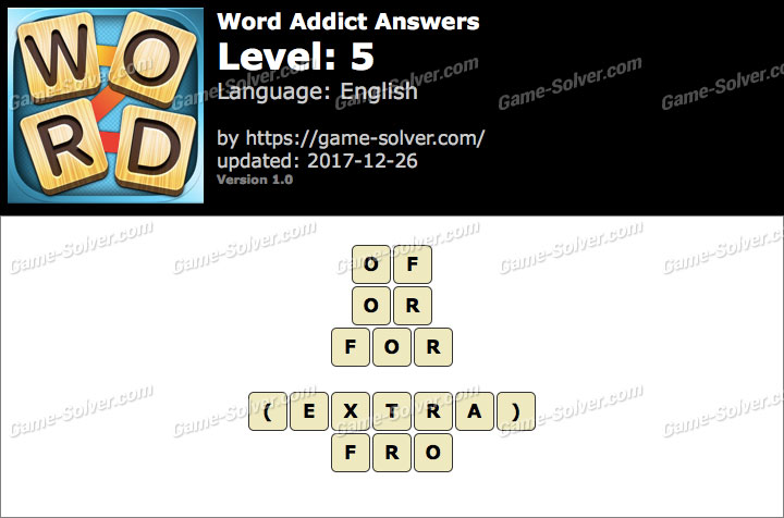 Word Addict Level 5 Answers