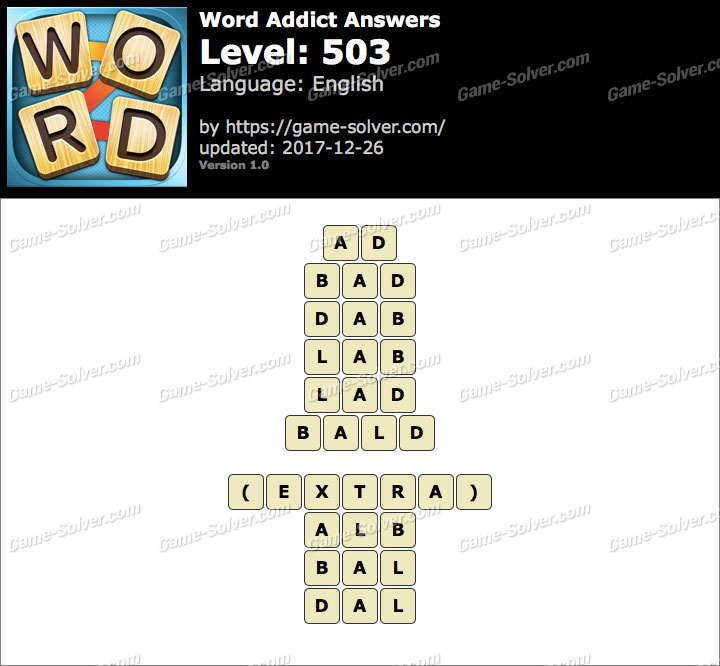 Word Addict Level 503 Answers