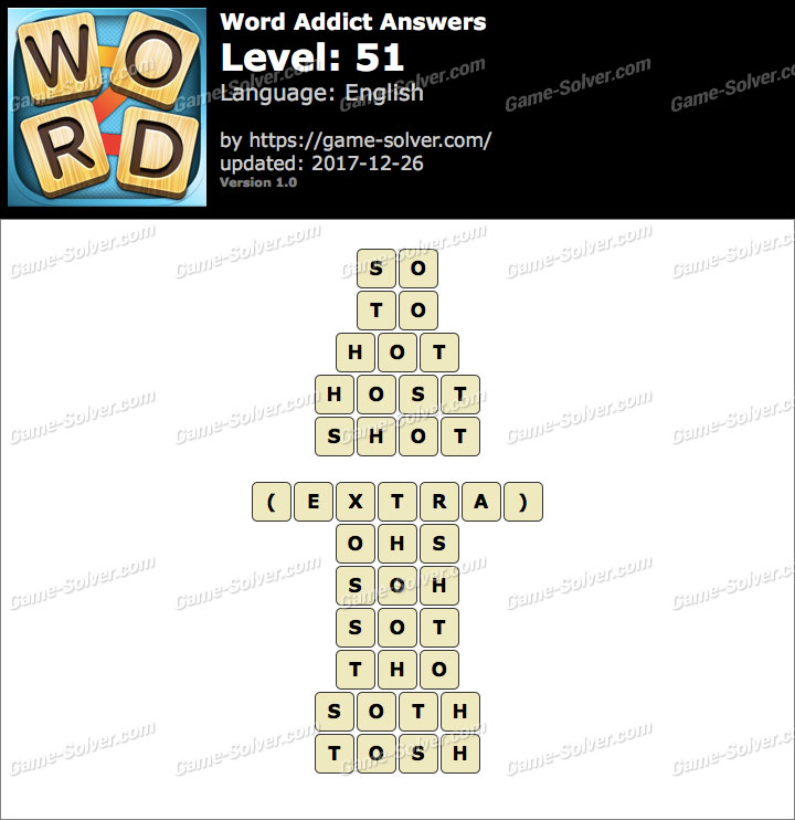 Word Addict Level 51 Answers