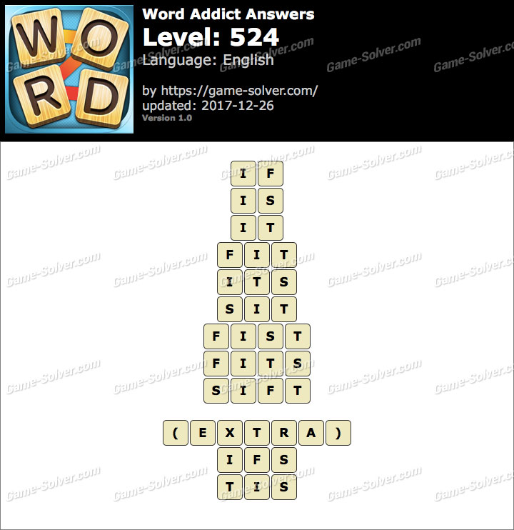 Word Addict Level 524 Answers