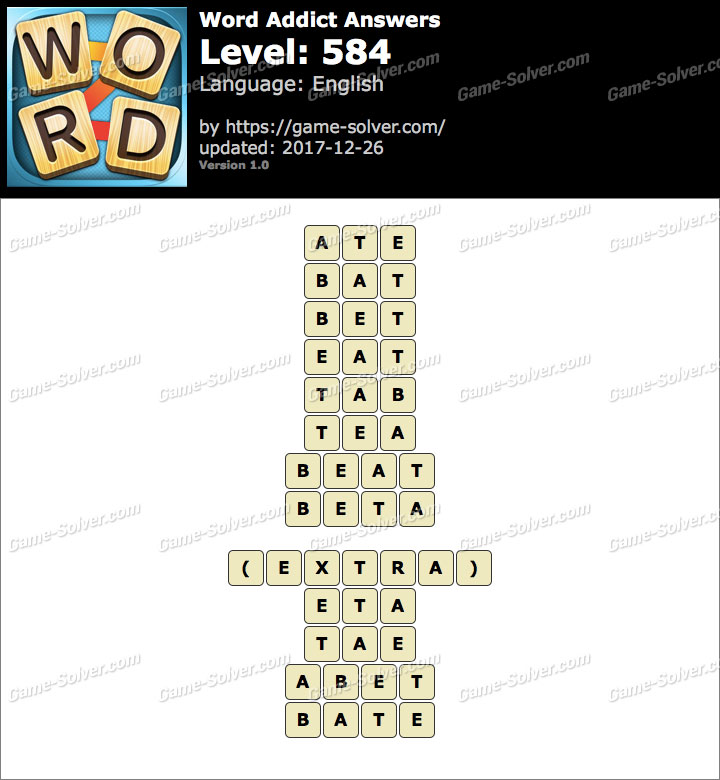 Word Addict Level 584 Answers