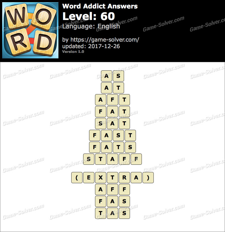 Word Addict Level 60 Answers