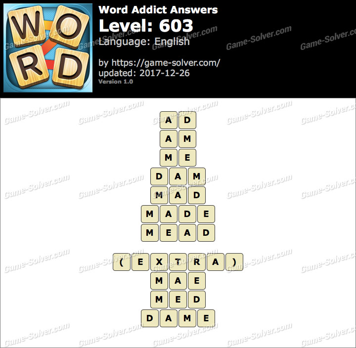 Word Addict Level 603 Answers