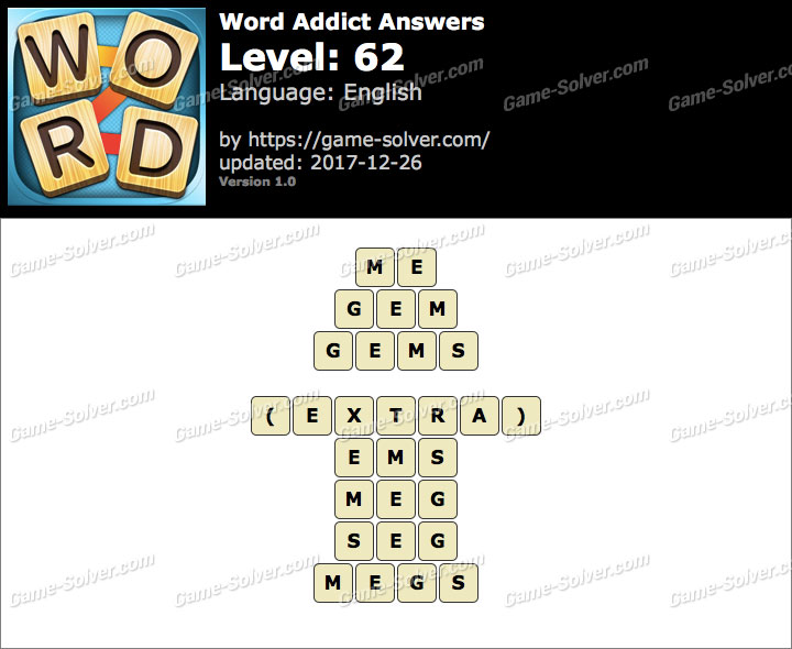 Word Addict Level 62 Answers
