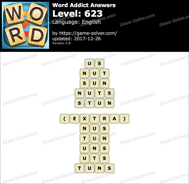 Word Addict Level 623 Answers