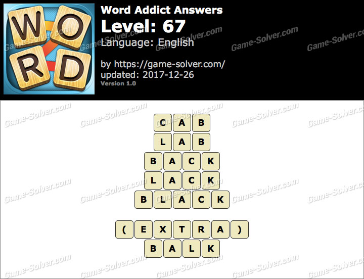 Word Addict Level 67 Answers