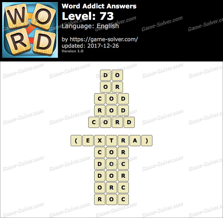 Word Addict Level 73 Answers