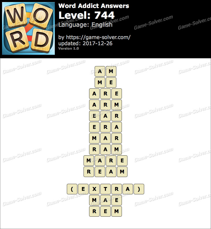 Word Addict Level 744 Answers