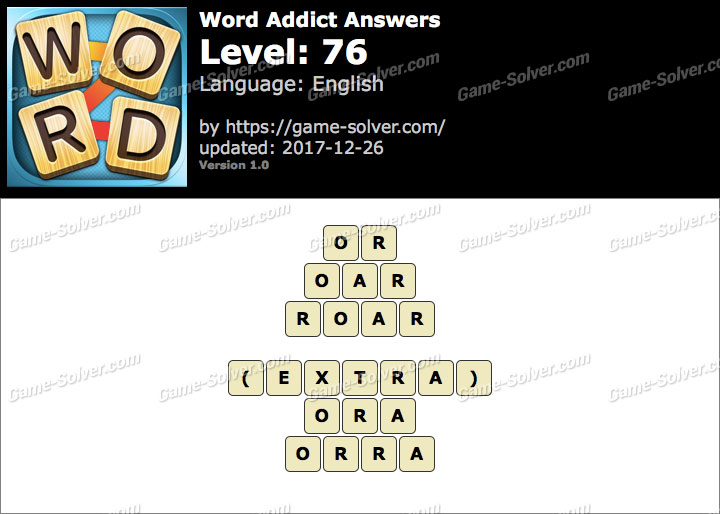 Word Addict Level 76 Answers
