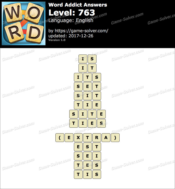 Word Addict Level 763 Answers
