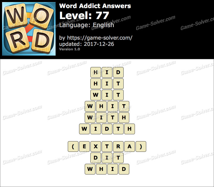 Word Addict Level 77 Answers