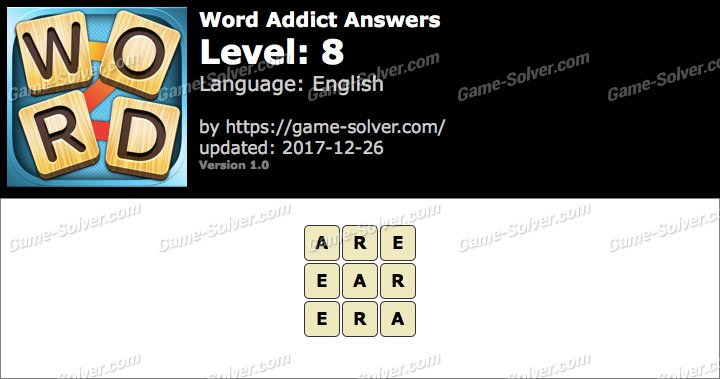 Word Addict Level 8 Answers