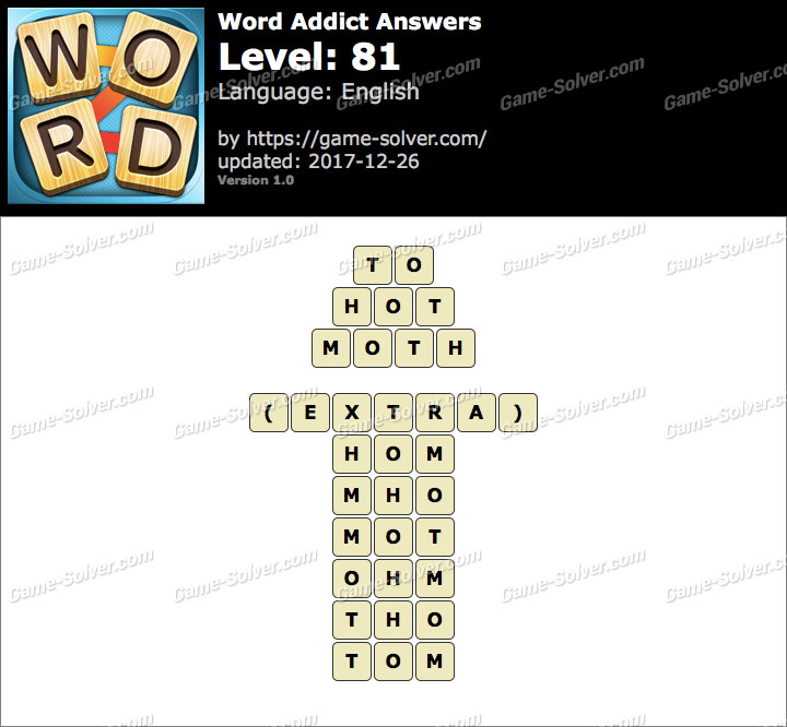 Word Addict Level 81 Answers