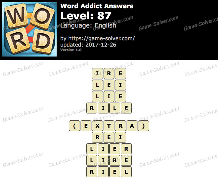 Word Addict Level 87 Answers