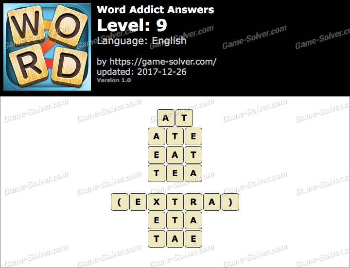 Word Addict Level 9 Answers