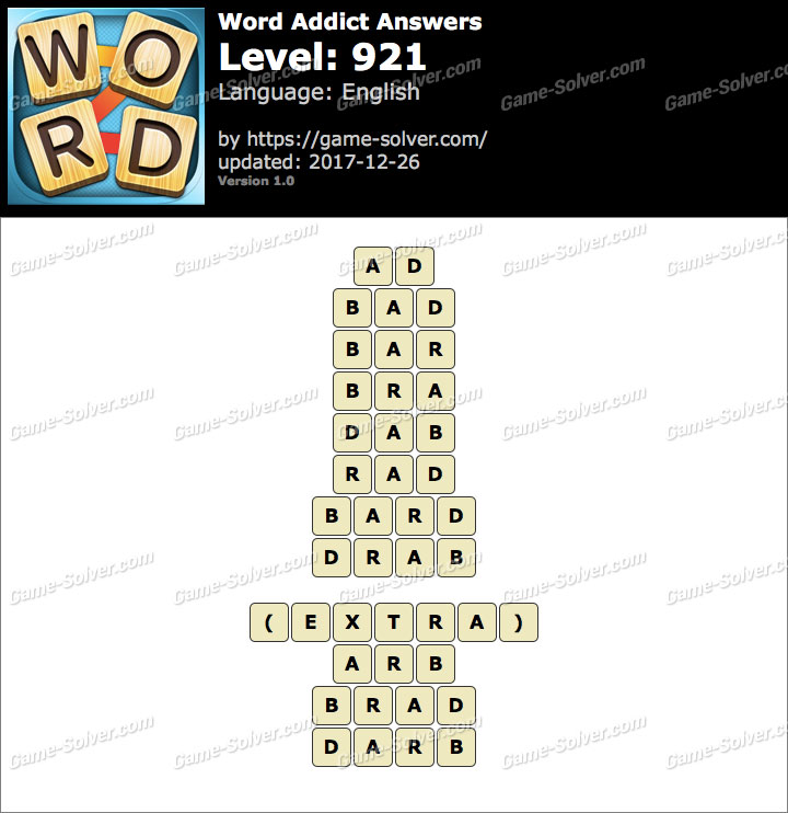 Word Addict Level 921 Answers