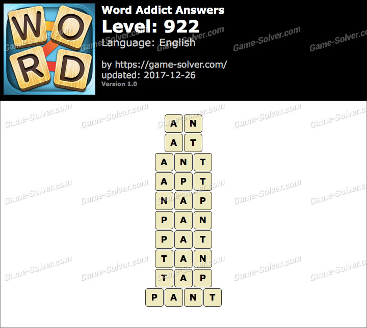 Word Addict Level 922 Answers