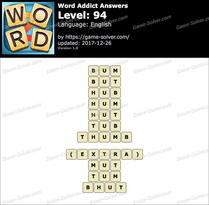Word Addict Level 94 Answers