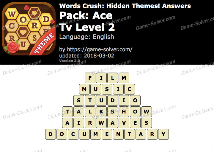 Words Crush Ace-Tv Level 2 Answers