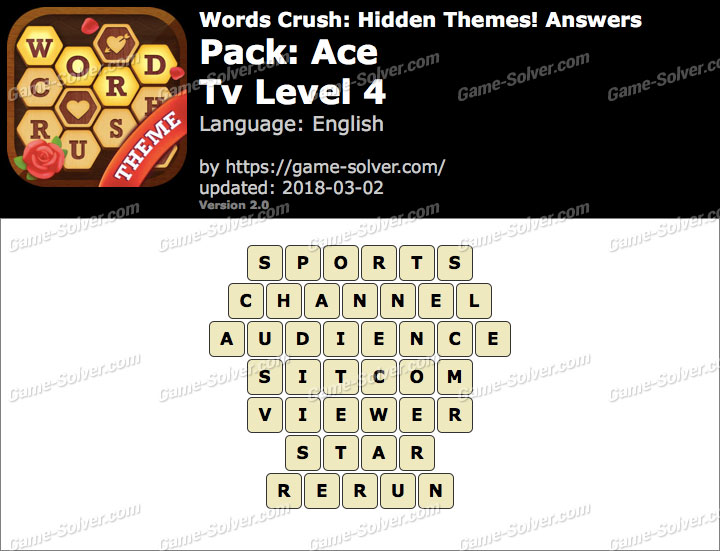Words Crush Ace-Tv Level 4 Answers