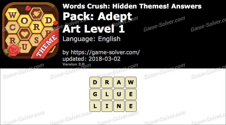 Words Crush Adept-Art Level 1 Answers