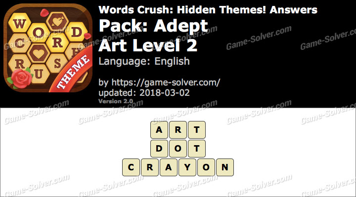 Words Crush Adept-Art Level 2 Answers