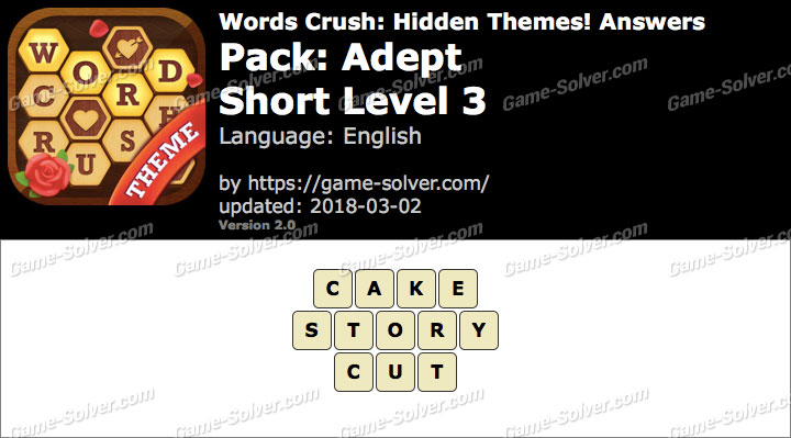 Words Crush Adept-Short Level 3 Answers