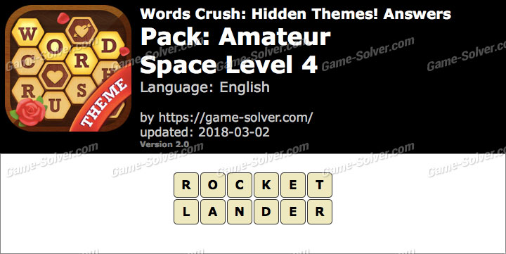 Words Crush Amateur-Space Level 4 Answers