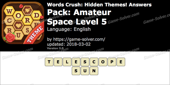 Words Crush Amateur-Space Level 5 Answers