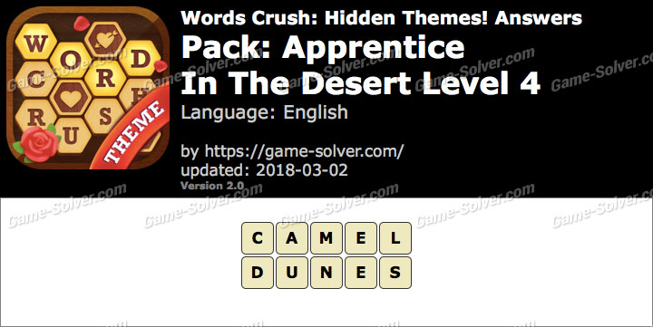 Words Crush Apprentice-In The Desert Level 4 Answers