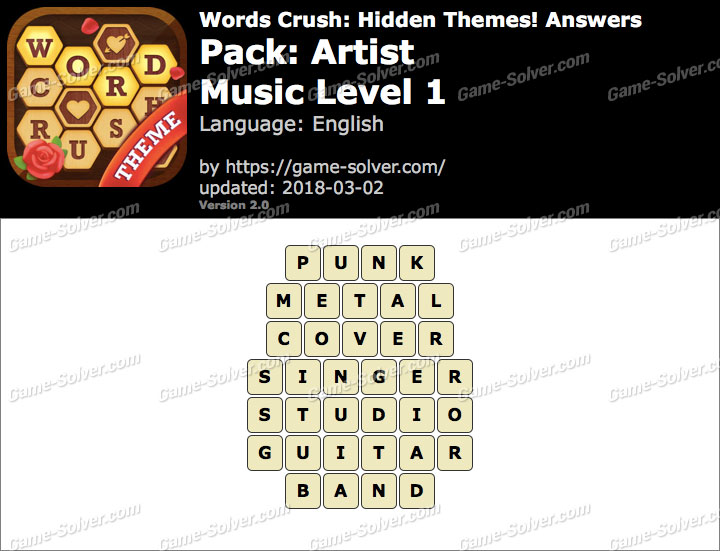 Words Crush Artist-Music Level 1 Answers