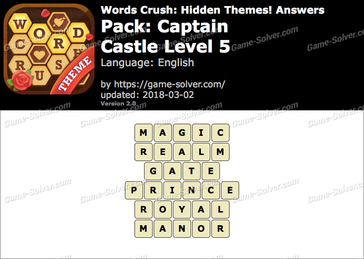 Words Crush Captain-Castle Level 5 Answers