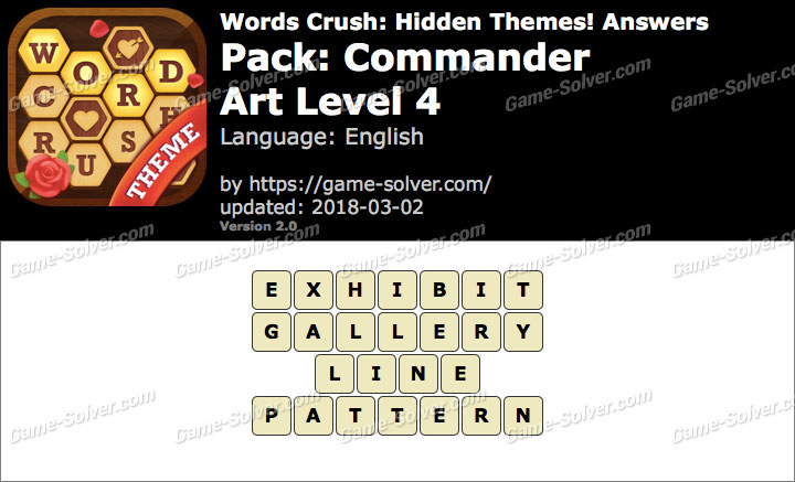 Words Crush Commander-Art Level 4 Answers