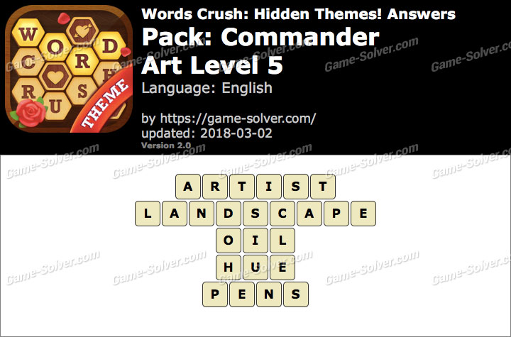 Words Crush Commander-Art Level 5 Answers