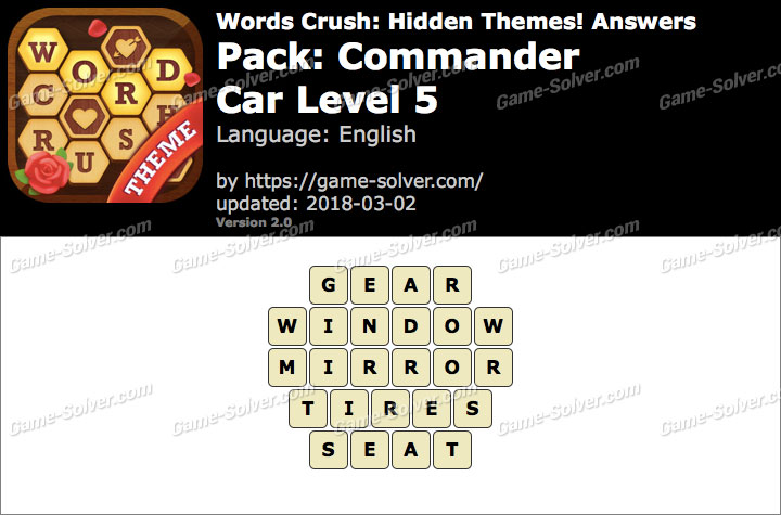 Words Crush Commander-Car Level 5 Answers