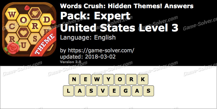 Words Crush Expert-United States Level 3 Answers