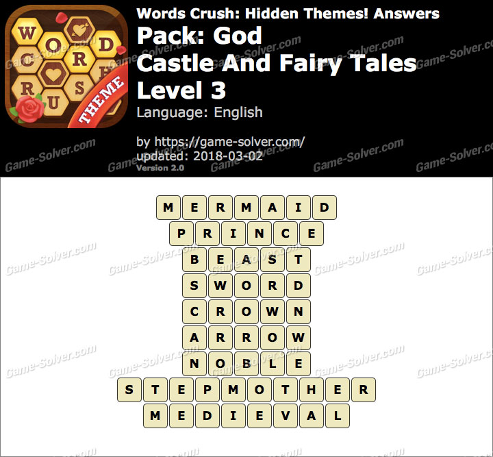 Words Crush God-Castle And Fairy Tales Level 3 Answers