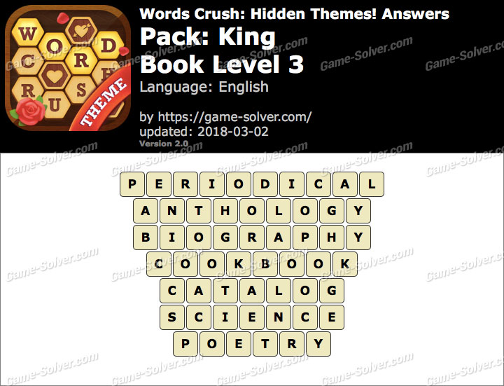 Words Crush King-Book Level 3 Answers