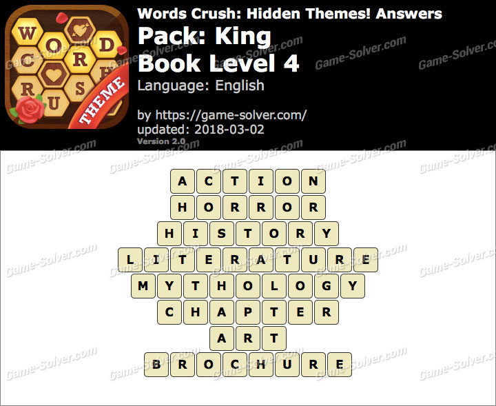 Words Crush King-Book Level 4 Answers