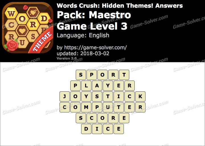 Words Crush Maestro-Game Level 3 Answers